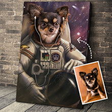Load image into Gallery viewer, The Astronaut Custom Pet Portrait Digital Download - Noble Pawtrait