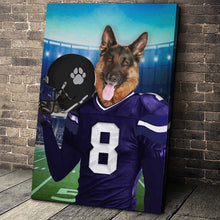 Load image into Gallery viewer, The Baltimore Fan Custom Canvas Pet Portrait - Noble Pawtrait