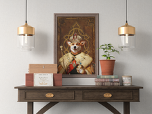 Load image into Gallery viewer, The King Custom Pet Portrait Poster - Noble Pawtrait