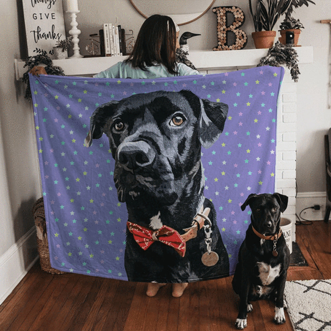 Custom Pet Fleece Blanket - Noble Pawtrait