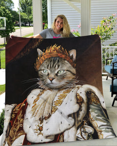 The Emperor Custom Pet Blanket - Noble Pawtrait