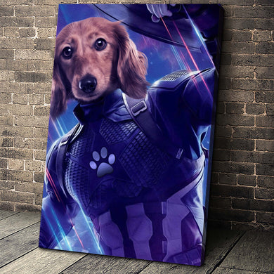 The Captain Paw Custom Pet Portrait Canvas - Noble Pawtrait