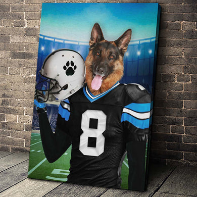 The Carolina Fan Custom Canvas Pet Portrait - Noble Pawtrait