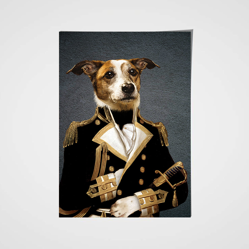 Chef d'escadron Custom Pet Portrait Poster - Noble Pawtrait