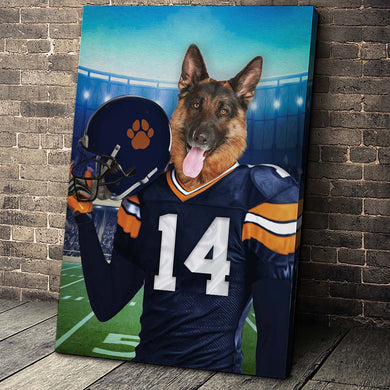 The Chicago Fan Custom Canvas Pet Portrait - Noble Pawtrait