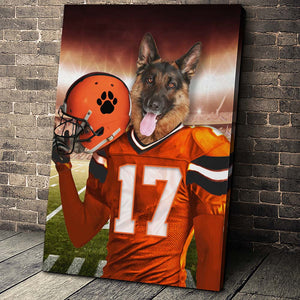 The Cincinnati Fan Custom Canvas Pet Portrait - Noble Pawtrait