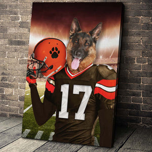 The Cleveland Fan Player Custom Pet Portrait - Noble Pawtrait