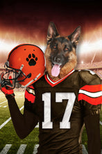Load image into Gallery viewer, The Cleveland Fan Player Custom Pet Portrait - Noble Pawtrait