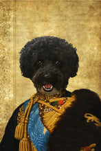 Load image into Gallery viewer, The Colonel En Second General Custom Pet Portrait Canvas - Noble Pawtrait