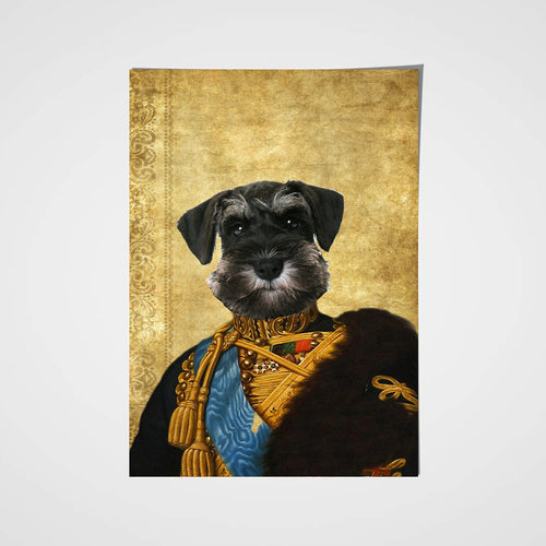 The Colonel En Second General Custom Pet Portrait Poster - Noble Pawtrait
