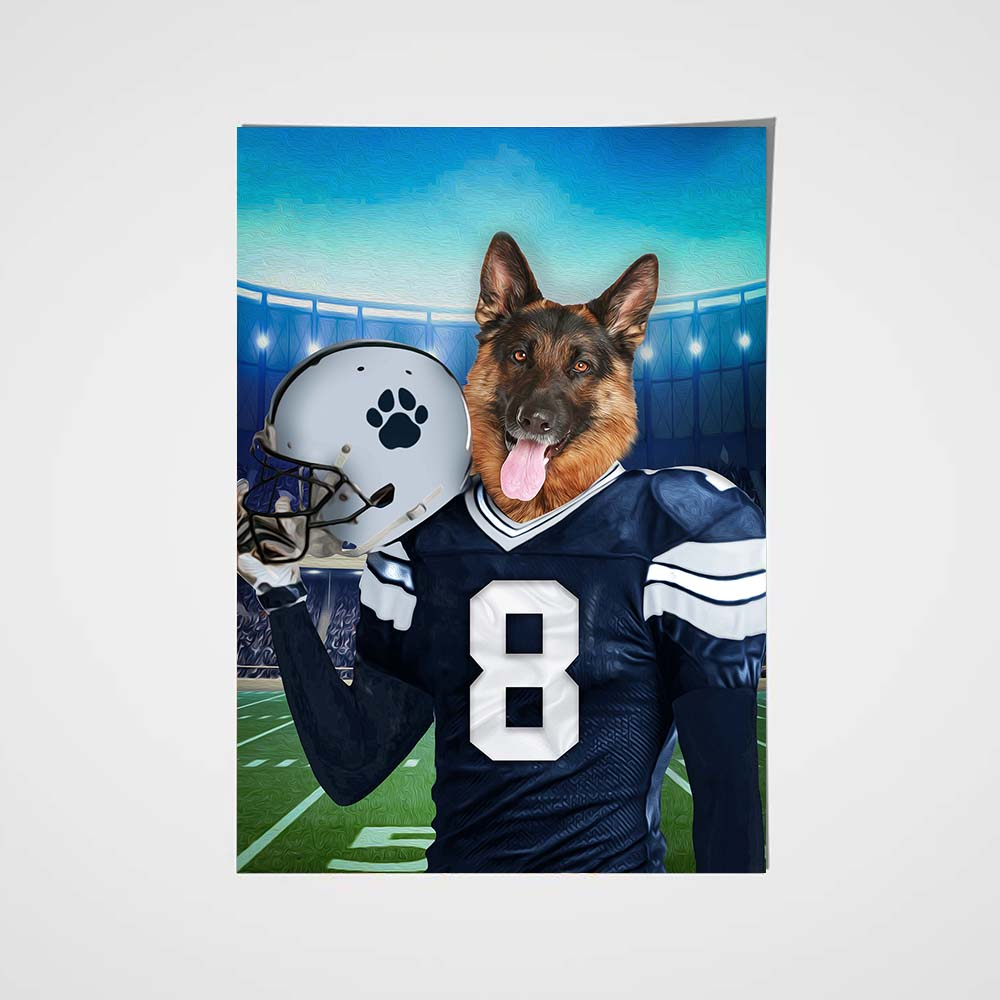 The Dallas Fan Custom Poster Pet Portrait - Noble Pawtrait