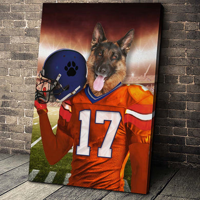 The Denver Fan Custom Canvas Pet Portrait - Noble Pawtrait