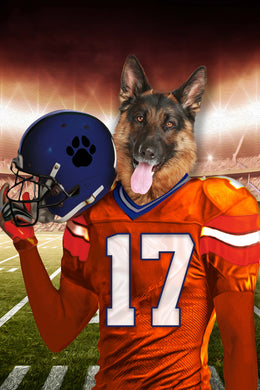 The Denver Fan Digital Download Pet Portrait - Noble Pawtrait