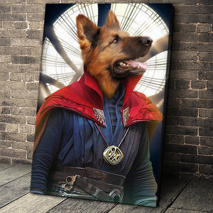 The Doctor Paw Custom Pet Portrait Canvas - Noble Pawtrait