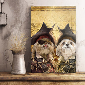 The Duo Pirates Custom Pet Portrait Poster - Noble Pawtrait