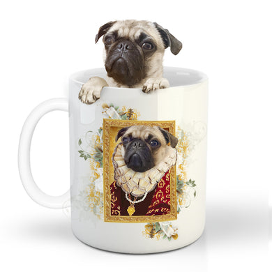 The Duchess Custom Pet Mug - Noble Pawtrait