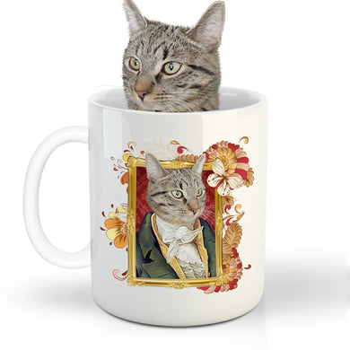 The Duke Custom Pet Mug - Noble Pawtrait