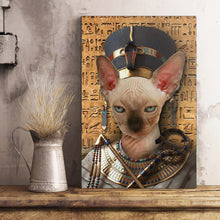 Load image into Gallery viewer, The Egypt Queen Custom Pet Portrait Poster - Noble Pawtrait