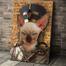 Load image into Gallery viewer, The Egypt Queen Custom Pet Portrait - Noble Pawtrait