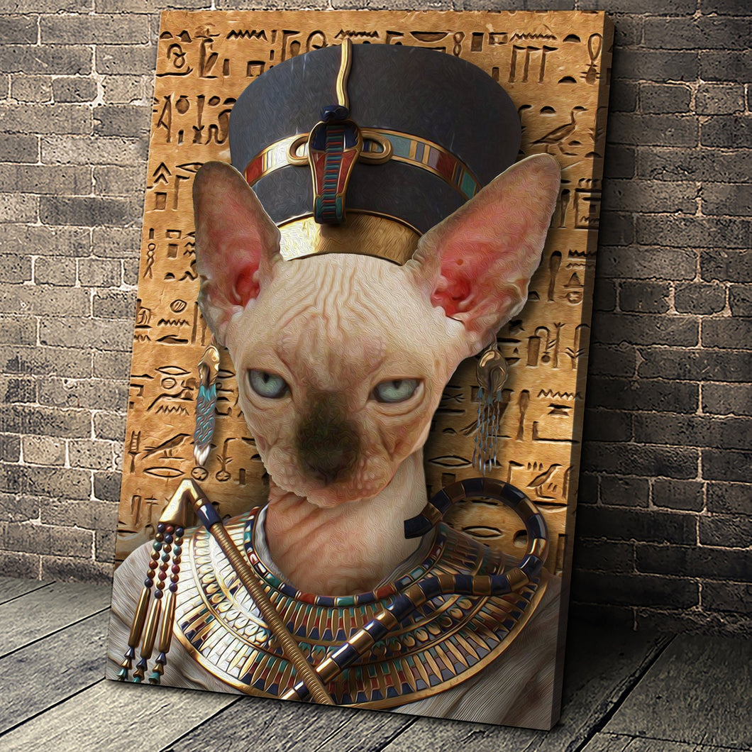The Egypt Queen Custom Pet Portrait - Noble Pawtrait
