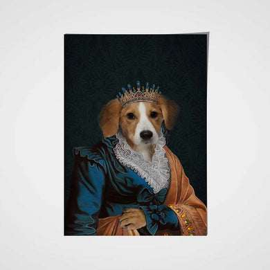 The Elegant Queen Custom Pet Portrait Poster - Noble Pawtrait