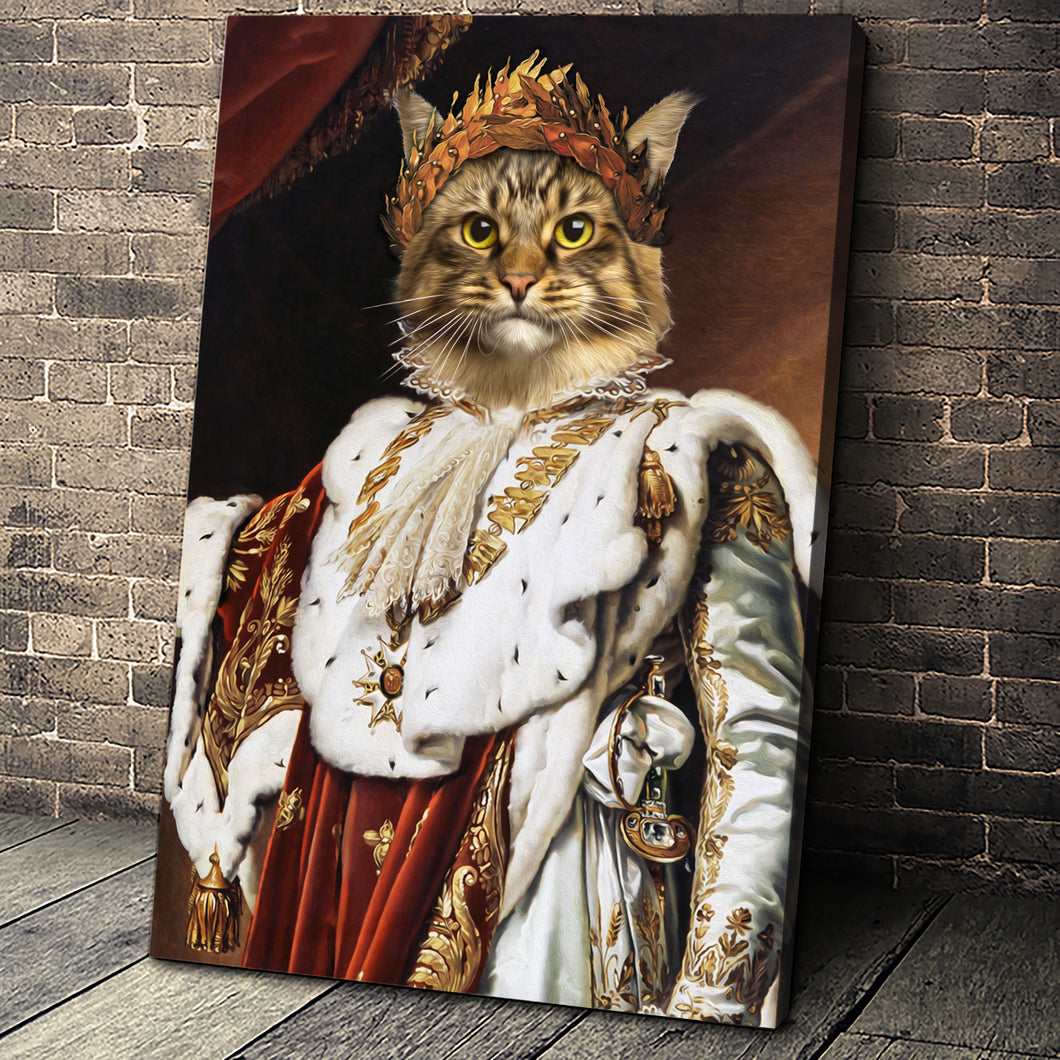 The Emperor Custom Pet Portrait Canvas - Noble Pawtrait