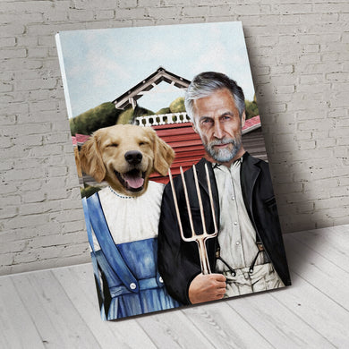 The Farmers Custom Pet Portrait - Noble Pawtrait