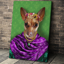 Load image into Gallery viewer, The Floral Custom Pet Portrait - Noble Pawtrait