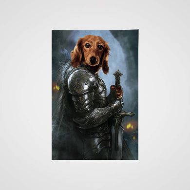 The Protector Custom Pet Portrait Poster - Noble Pawtrait