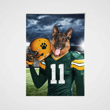 Load image into Gallery viewer, The Green Bay Fan Custom Pet Portrait - Noble Pawtrait