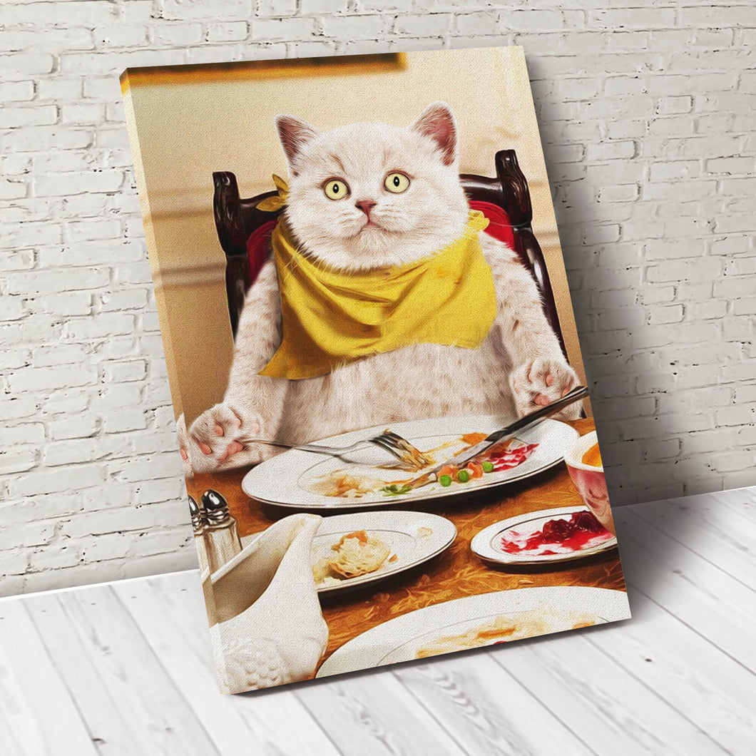 Happy Meal Custom Pet Portrait Canvas - Noble Pawtrait