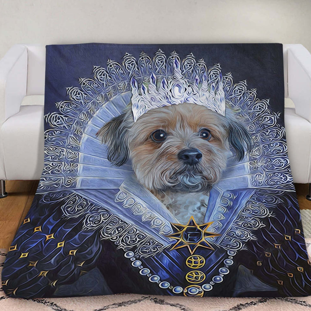 Her Majesty Custom Pet Blanket - Noble Pawtrait