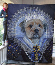 Load image into Gallery viewer, Her Majesty Custom Pet Blanket - Noble Pawtrait