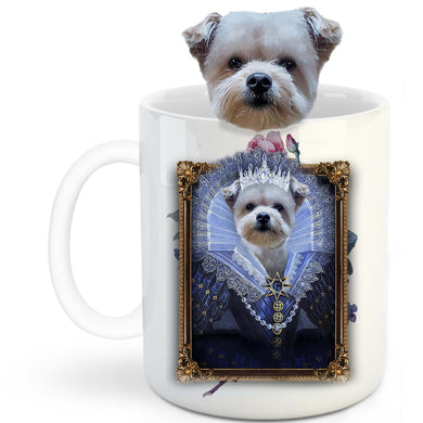 Her Majesty Custom Pet Mug - Noble Pawtrait