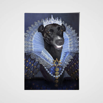 Her Majesty Custom Pet Portrait Poster - Noble Pawtrait