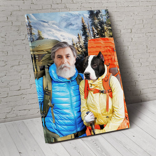 The Hikers Custom Pet Portrait - Noble Pawtrait