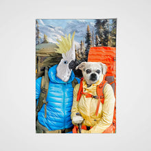 Load image into Gallery viewer, The Hikers Custom Pet Portrait Poster - Noble Pawtrait