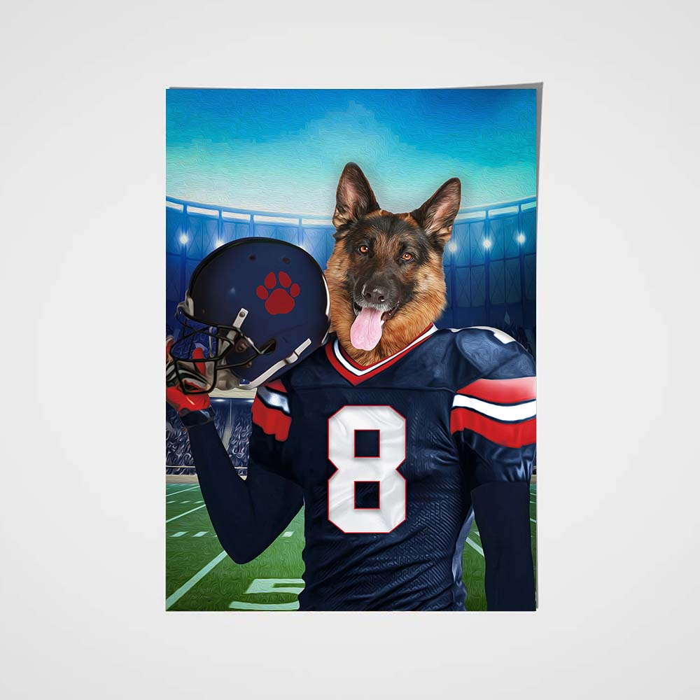 The Houston Texans Fan Custom Poster Pet Portrait - Noble Pawtrait