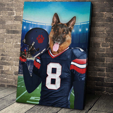 The Houston Texans Fan Custom Canvas Pet Portrait - Noble Pawtrait