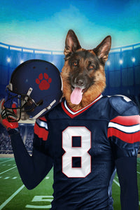 The Houston Texans Fan Custom Digital Download Pet Portrait - Noble Pawtrait