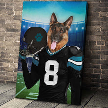 Load image into Gallery viewer, Jacksonville Fan Custom Canvas Pet Portrait - Noble Pawtrait