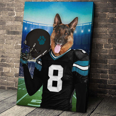 Jacksonville Fan Custom Canvas Pet Portrait - Noble Pawtrait