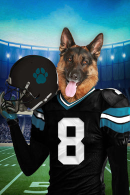 Jacksonville Fan Custom Digital Download Pet Portrait - Noble Pawtrait