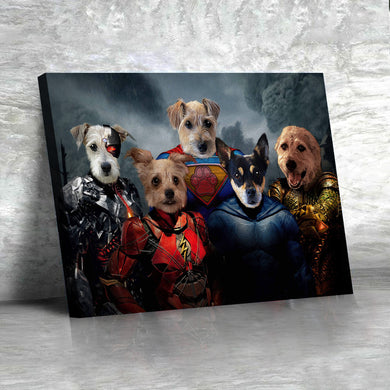 The Justice Heroes Custom Pet Portrait - Noble Pawtrait