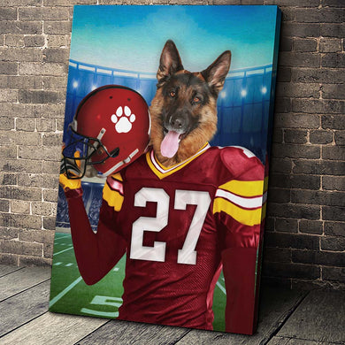The Kansas City Fan Custom Canvas Pet Portrait - Noble Pawtrait