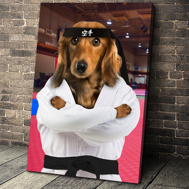 The Karate Paw Custom Pet Portrait - Noble Pawtrait