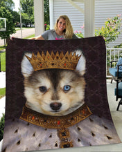 Load image into Gallery viewer, King Henry VII Custom Pet Blanket - Noble Pawtrait