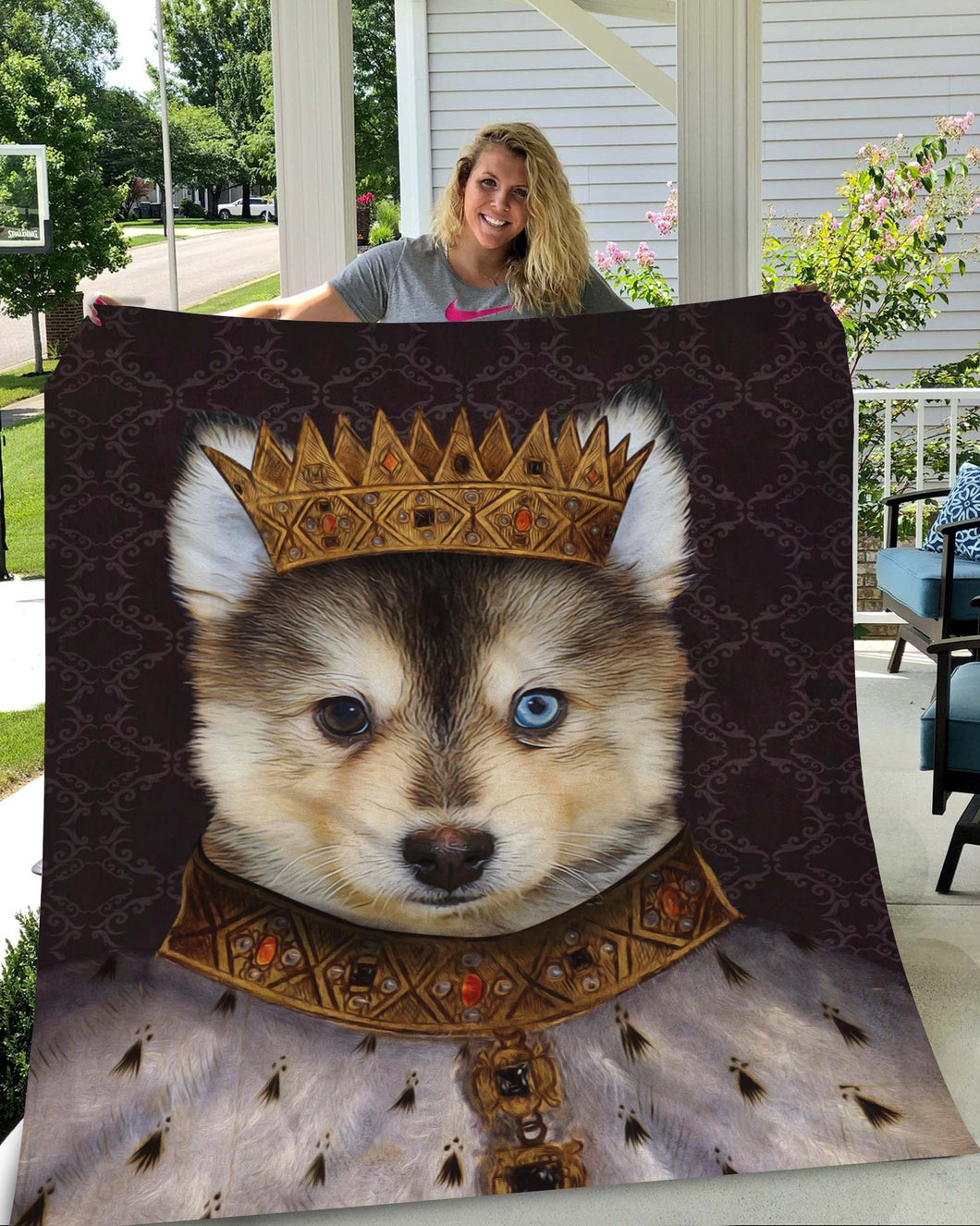 King Henry VII Custom Pet Blanket - Noble Pawtrait