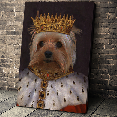King Henry VII Custom Pet Portrait Canvas - Noble Pawtrait