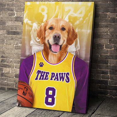 The LA Basketball Custom Canvas Pet Portrait - Noble Pawtrait